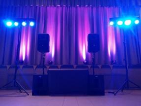 Huwelijksfeest licht en geluid