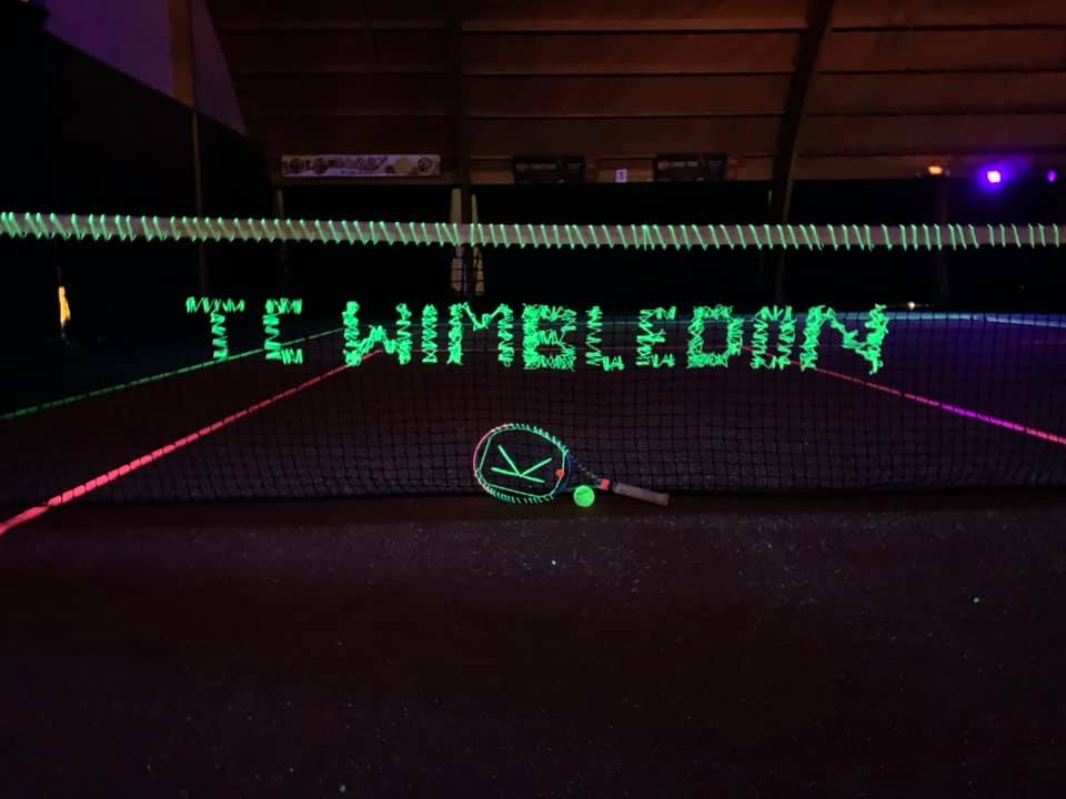 Blacklight tennis verhuur