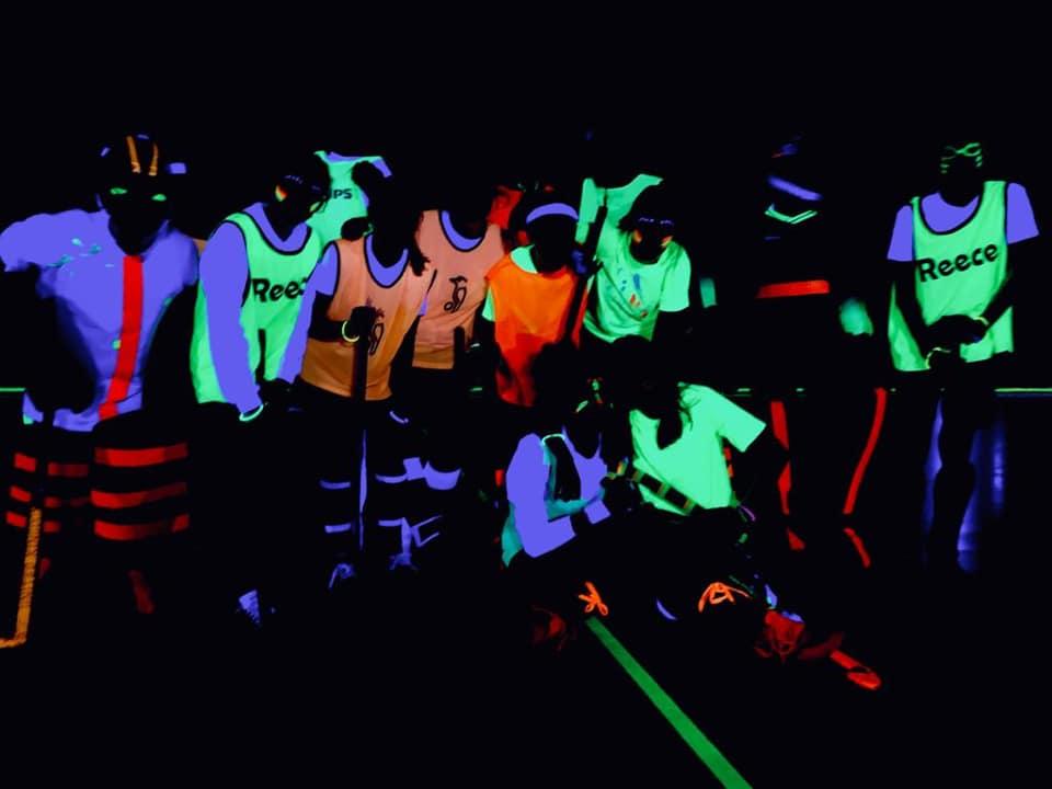 Glow in the dark hockey